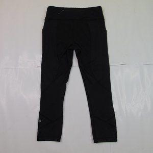 Lululemon Womens Size 6 Capri Leggings Yoga Pants Black Athliesure Gym Running
